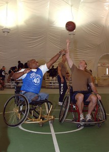 disabled veterans playing basketball