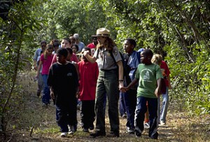 Ranger hike with kids at Biscayne National Park, Florida