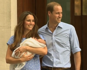 The royal baby needs to work on his royal wave.