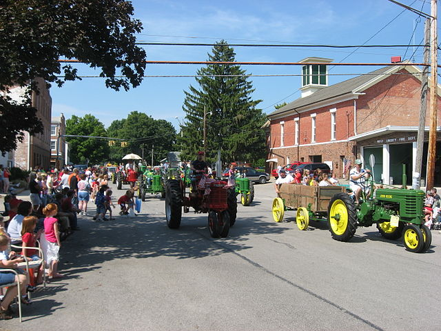 West_Liberty_tractor_parade -- Labor Day image