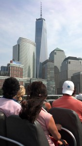 """One World Trade Center view from """"The Beast"""" tourist boat."""