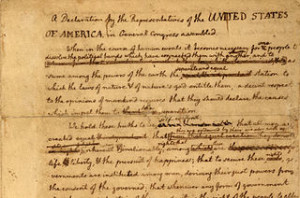 Edited draft of Declaration of Independence